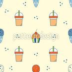 Ice Cream And Drink Pattern Design