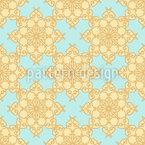 Geometric Flower Seamless Vector Pattern Design