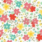 Summer Flora Seamless Vector Pattern