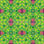 Traditional Mexican Seamless Vector Pattern Design
