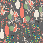 Tulip Bouquets And Vases Pattern Design