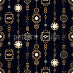 Magical Garlands Seamless Vector Pattern Design