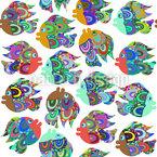 Vivid Fish Seamless Vector Pattern