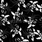 Rosa Escura Design de padrão vetorial sem costura