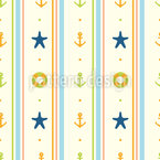 Holiday at the Sea Seamless Vector Pattern Design