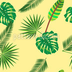 Tropical Leaf Jungle Seamless Vector Pattern Design