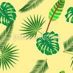 Tropischer Blatt Dschungel Nahtloses Vektormuster