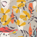 Poppies und Branches Repeating Pattern