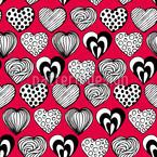 Lustige Herzen Nahtloses Vektormuster