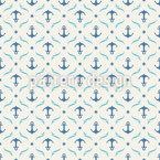 Âncora Alto Mar Design de padrão vetorial sem costura