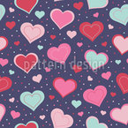 Totally In Love Seamless Vector Pattern Design