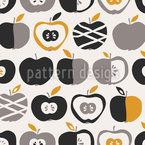 Retro Apples Repeating Pattern