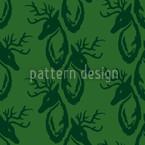 Hirschgrün Vektor Muster