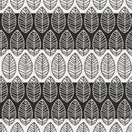 Blätter Auf Streifen Nahtloses Vektormuster