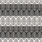 Leaves On Stripes Pattern Design