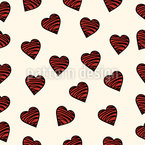Schokoladen Herzen Nahtloses Vektormuster