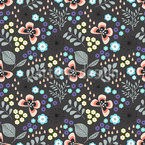 Butterfly Mille Fleurs Seamless Vector Pattern Design