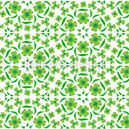 Lucky Clover Dance Seamless Vector Pattern Design