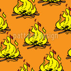 Fire Pit Seamless Vector Pattern Design