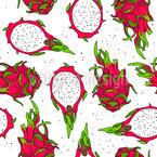 Fruta do Drag Design de padrão vetorial sem costura