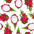 Dragon Fruit Seamless Vector Pattern Design