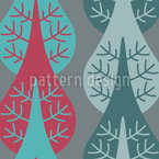 Vertical Trees Seamless Vector Pattern Design
