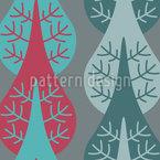 Vertikale Bäume Nahtloses Vektormuster