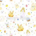 Easter Seamless Vector Pattern Design