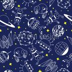 Abenteuer Im Weltraum Nahtloses Vektormuster