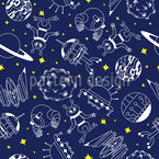 Space Adventure Seamless Vector Pattern Design