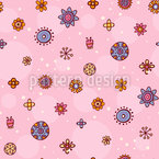 Flower Drawings Seamless Vector Pattern Design