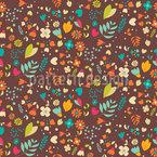 Flower Meadow Seamless Pattern