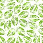 Stempeldruck Blätter Musterdesign
