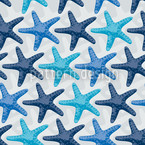 Starfish Grey Pattern Design