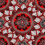 曼荼羅の花 シームレスなベクトルパターン設計