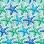 Seesterne Mint Musterdesign