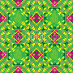 Mexican Mosaic Seamless Vector Pattern