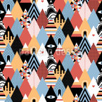 Patchwork Triangles Seamless Vector Pattern Design