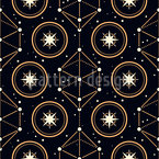 Magical Astrology Seamless Vector Pattern Design