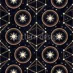Magische Astrologie Nahtloses Vektormuster