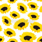 Sunflower Seamless Vector Pattern Design