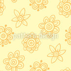 Sunny abstract Blossoms Seamless Pattern