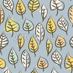 Brushstroke Leaves Vector Pattern
