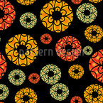 Girlish Circles Seamless Vector Pattern Design