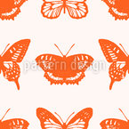 Especies de Mariposas Estampado Vectorial Sin Costura
