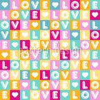 Buchstaben Der Liebe Rapportmuster