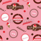 Yummy Pink Seamless Vector Pattern Design