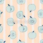 Streifen und Äpfel Nahtloses Muster