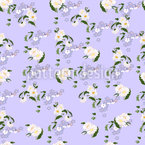 Sweet Daisy Forget Me Not Seamless Vector Pattern Design