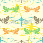 Most Beautiful Dragonfly Seamless Vector Pattern Design